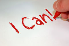 I Can! Royalty Free Stock Images