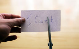 I can or i can`t consept Royalty Free Stock Image