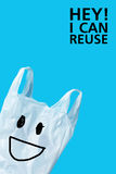 I can reuse. Recycle Concept of Plastic Bags Royalty Free Stock Images