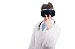 I can see you gesture made by doctor Royalty Free Stock Photo