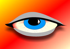 I can see you to. Drawing of an eye ceated in Coreldraw10 Stock Images