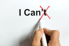 I can, self-motivation quote Royalty Free Stock Photography