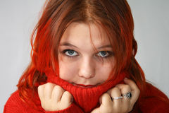 I can't stand the cold! Stock Photography