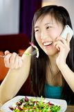 I can't stop talking on cell phones Royalty Free Stock Photography