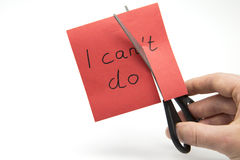 I can't do - I can do Stock Image