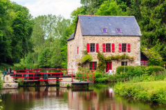 I canali stretti di Bretagna, Francia Immagine Stock