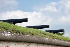 I cannoni da 32 libbre Fotografia Stock Libera da Diritti