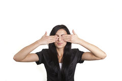 I cant see you ! Stock Photo