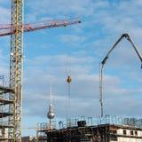 I cantieri della capitale Berlino immagine stock libera da diritti