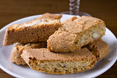 I cantucci toscani - Cantucci from Tuscany (IT). Typical Italian cookies coming from Tuscany, normally served with white wine stock photo