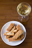 I cantucci toscani - Cantucci from Tuscany (IT). Typical Italian cookies coming from Tuscany, normally served with white wine stock photos