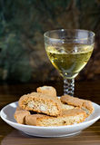 I cantucci toscani - Cantucci from Tuscany (IT). Typical Italian cookies coming from Tuscany, normally served with white wine stock image