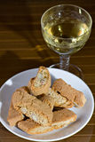 I cantucci toscani - Cantucci from Tuscany (IT). Typical Italian cookies coming from Tuscany, normally served with white wine royalty free stock photos