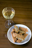 I cantucci toscani - Cantucci from Tuscany (IT). Typical Italian cookies coming from Tuscany, normally served with white wine royalty free stock images