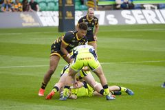 I capi di Exeter ed il rugby 7 S di Saracens fotografie stock