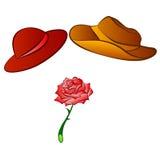 I cappelli maschii e femminili e sono aumentato royalty illustrazione gratis