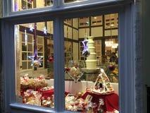 Christmas Window Scene stock photo