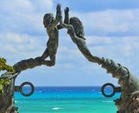 I Caraibi in Playa del Carmen Fotografia Stock