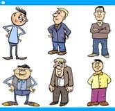 I caratteri degli uomini hanno messo l'illustrazione del fumetto Fotografia Stock Libera da Diritti