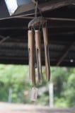 I carillon di vento hanno fatto il ‹del †del ‹del †di bambù Fotografia Stock Libera da Diritti