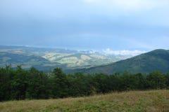 I Carpathians ucraini La catena montuosa di Borzhava fotografia stock