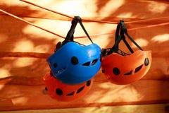 I caschi di alpinismo Fotografie Stock Libere da Diritti