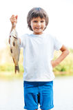 I catch it by myself! Royalty Free Stock Photos