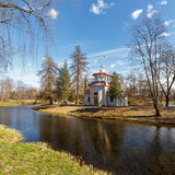 I Catherine Park Pushkin, Tsarskoe Selo Arkivfoto