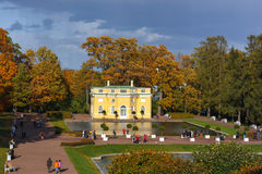 I Catherine Park Pushkin, Tsarskoe Selo Arkivbild