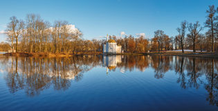 I Catherine Park Pushkin, Tsarskoe Selo Arkivbilder