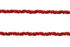 I cavi rossi bordano il testo fisso fotografie stock