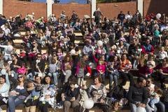 I centinaia di madri hanno assistito al sesto allattamento al seno nazionale nel pub Fotografie Stock