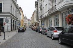 I centrum av Bratislava den gamla staden royaltyfri bild