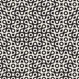 I cerchi in bianco e nero senza cuciture di vettore hanno arrotondato Maze Halftone Truchet Pattern Fotografie Stock Libere da Diritti