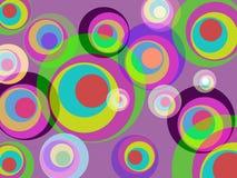 I cerchi colorano rappresenta intorno ad astratto ed a Multicoloured Immagini Stock