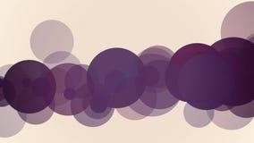 I cerchi colorati scorrono animazione delle onde illustrazione vettoriale