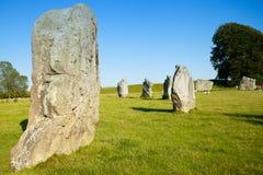 I cerchi del henge e della pietra di Avebury sono una di più grandi meraviglie della Gran-Bretagna preistorica Fotografie Stock Libere da Diritti
