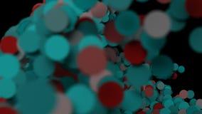 I cerchi di carta variopinti scorrono attraverso la struttura illustrazione vettoriale