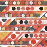 I cerchi e le linee retro stile vector l'effetto di lerciume dell'illustrazione Fotografia Stock Libera da Diritti