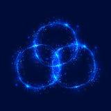 I cerchi ed il turbinio brucianti astratti di scintillio trascinano l'effetto Fotografie Stock