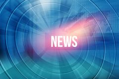 I cerchi espandentesi del fondo globale della connettività con le notizie mandano un sms a royalty illustrazione gratis