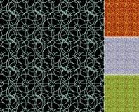 I cerchi senza cuciture vector i modelli in quattro colori differenti Immagine Stock Libera da Diritti