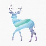 I cervi profilano, fauna selvatica, corno, isolato, struttura delle mattonelle, illustrazione vettoriale
