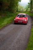 I. Chadwick driving Subaru Impreza Royalty Free Stock Image