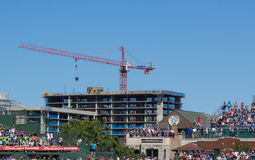 I Chicago Cubs Wrigley sistemano Fotografia Stock Libera da Diritti