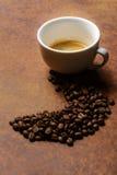 I chicchi di caffè conducono il modo Fotografia Stock Libera da Diritti