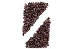 I chicchi di caffè hanno modellato in una barra Fotografie Stock