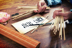 I ching ancient oracle Stock Images