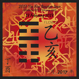 I ching calendar 2017 Stock Photography