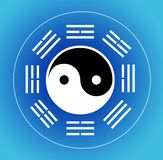 I-ching and yin yang Stock Photos